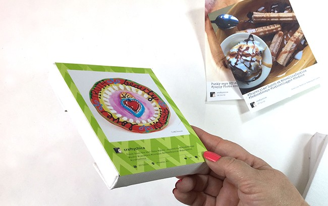Use HP Sticky Back paper to print and affix your images to canvases!