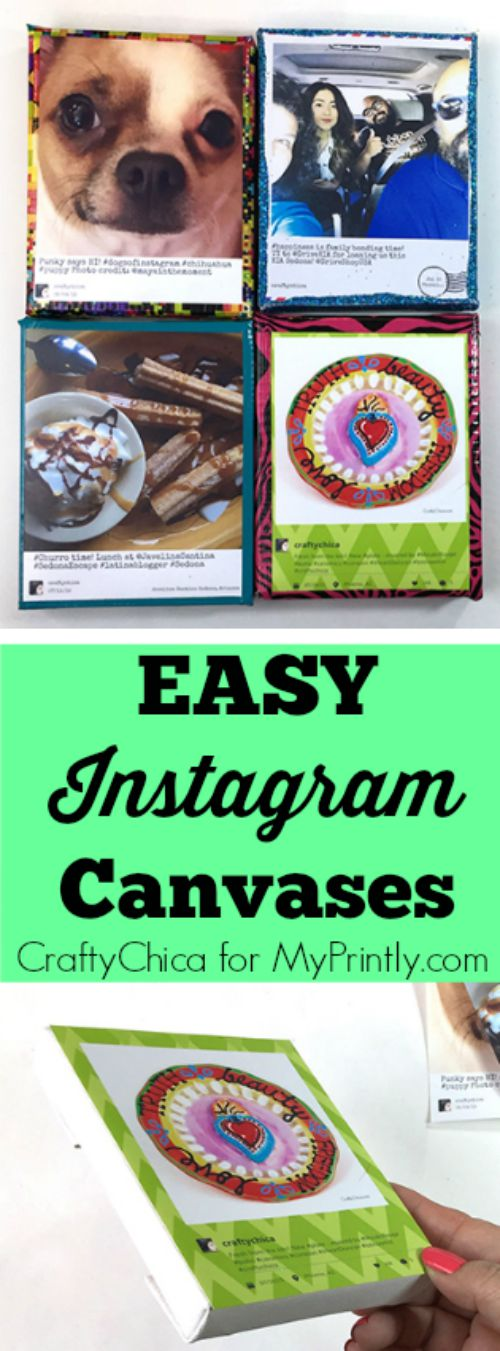 Use HP sticky back paper to print and affix your Instagram photos to canvases!