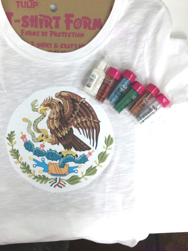 Hispanic Heritage Month Craft: coat of Arms Shirts by CraftyChica.com