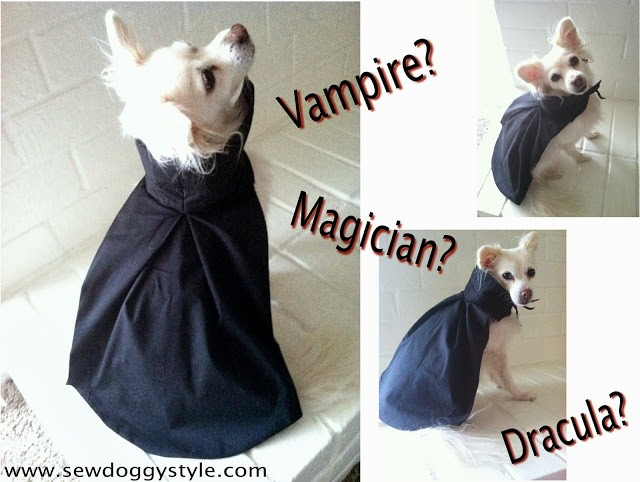 Dog vampire costume by SewDoggyStyle.com