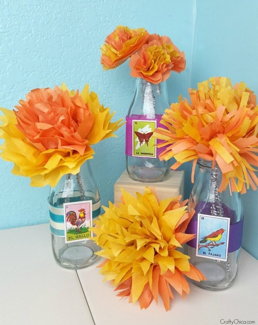 marigold paper flowers