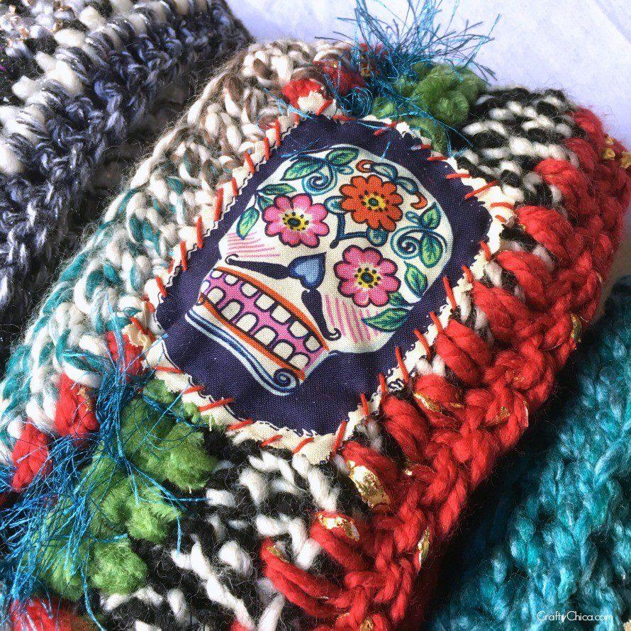 yarn collage scarf