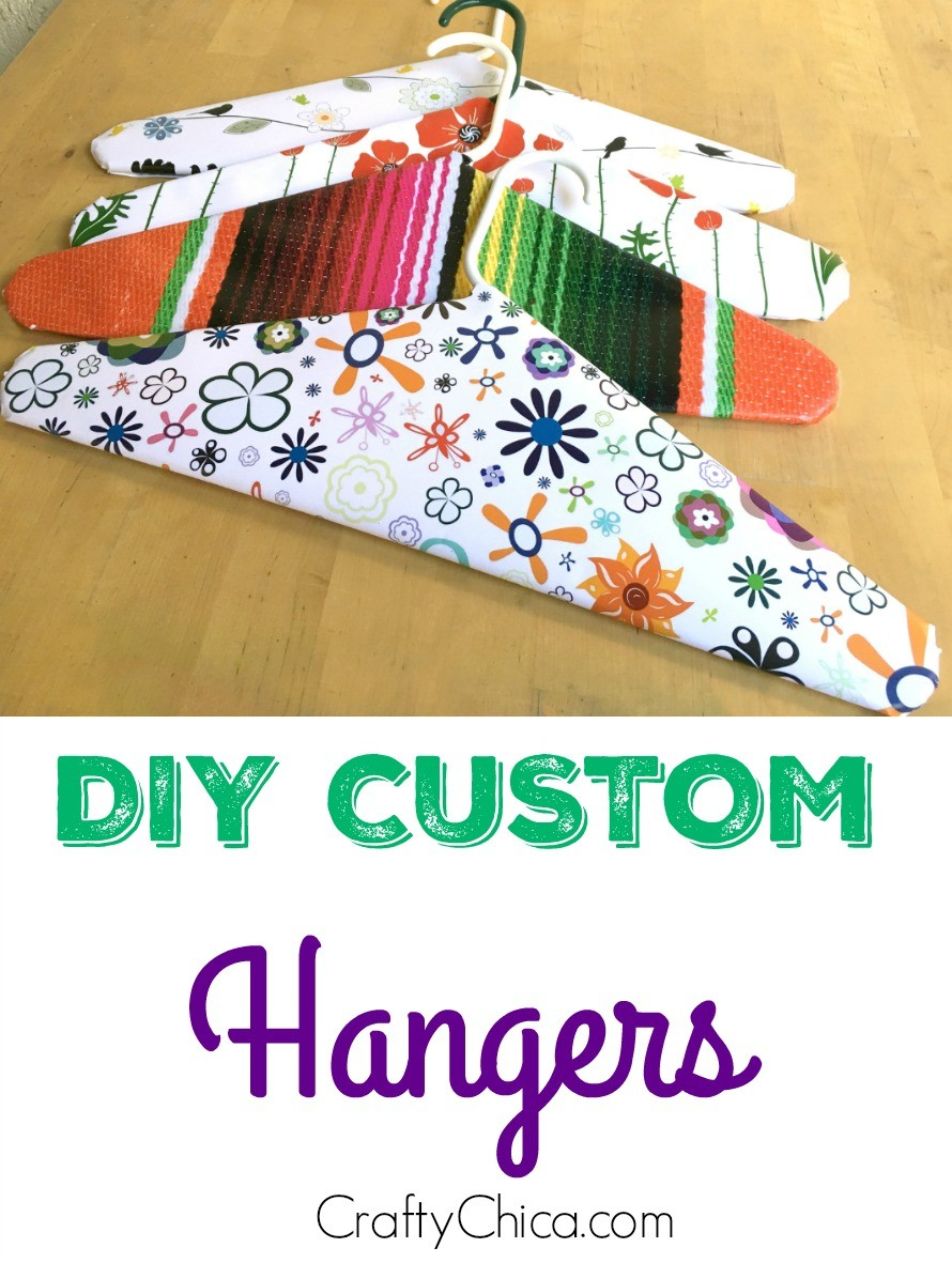 Customize your hangers, by CraftyChica.com.