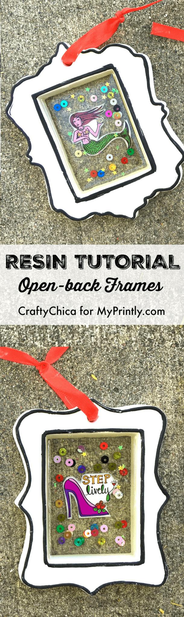 Open back resin frames