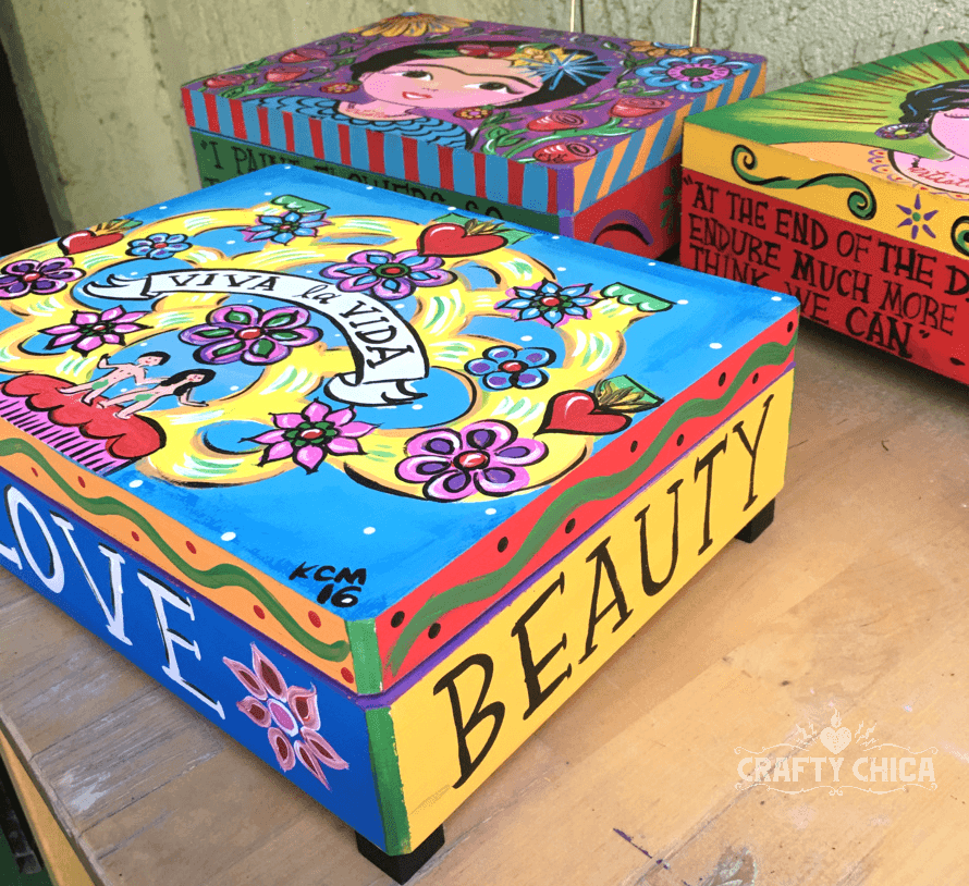 Painted Wood Boxes The Crafty Chica
