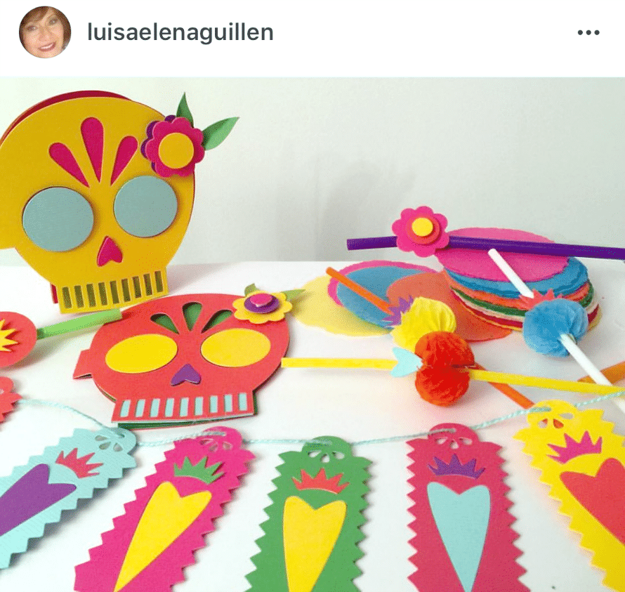 Made by Luisa Elena Guillen using Crafty Chica product line for Sizzix.