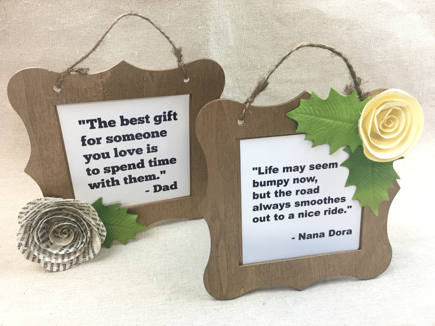 Quote frames, Crafty Chica for MyPrintly