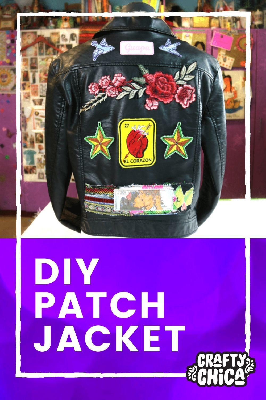 How to make a patch jacket! #craftychica #appliquecraft #diyjacket