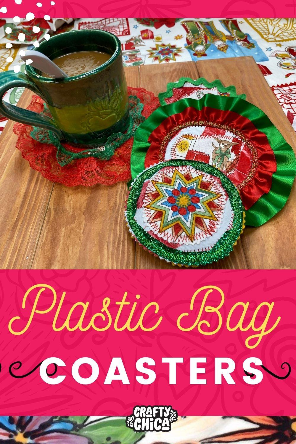 Plastic Bag Crafts Diy Drink Coasters The Crafty Chica Crafts Latinx Art Creative Motivation