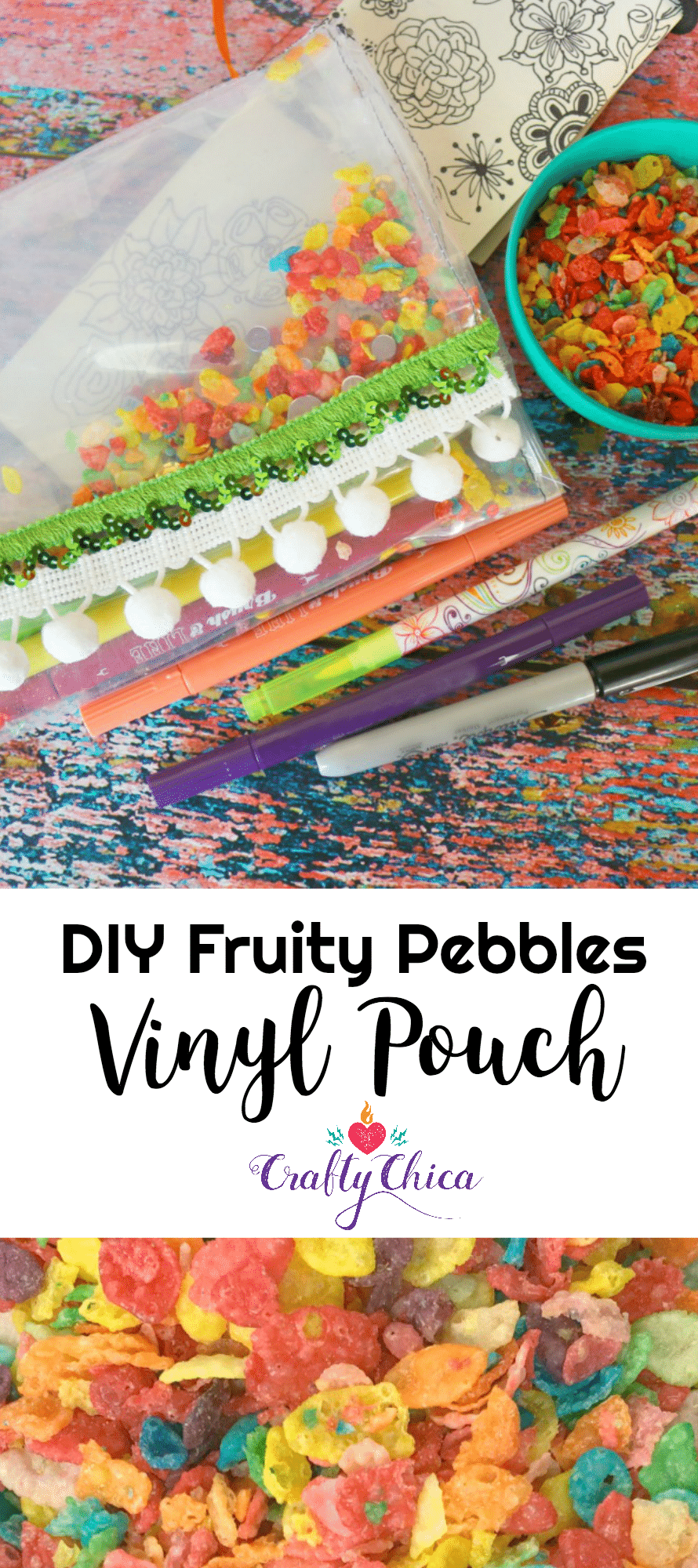 Fruity Pebbles Craft - How to make a vinyl pouch