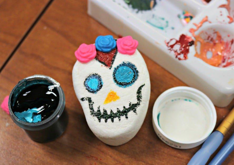 skull marshmallow