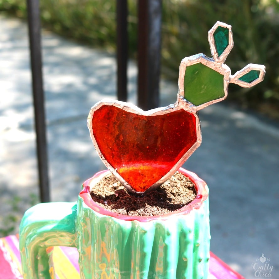 Stained glass cactus by Crafty Chica.