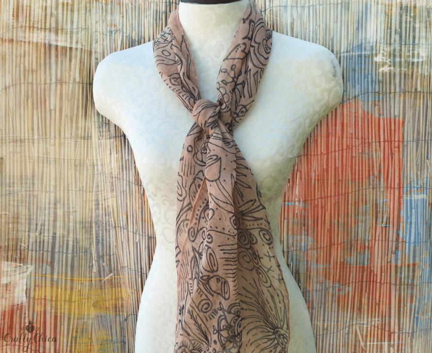 Avocado dyed scarf, CraftyChica.com.