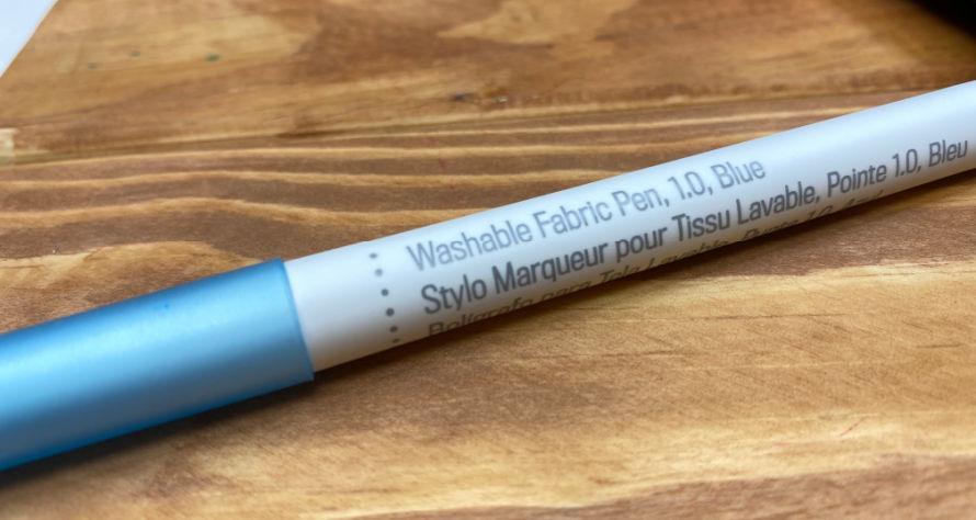 Washable fabric pen