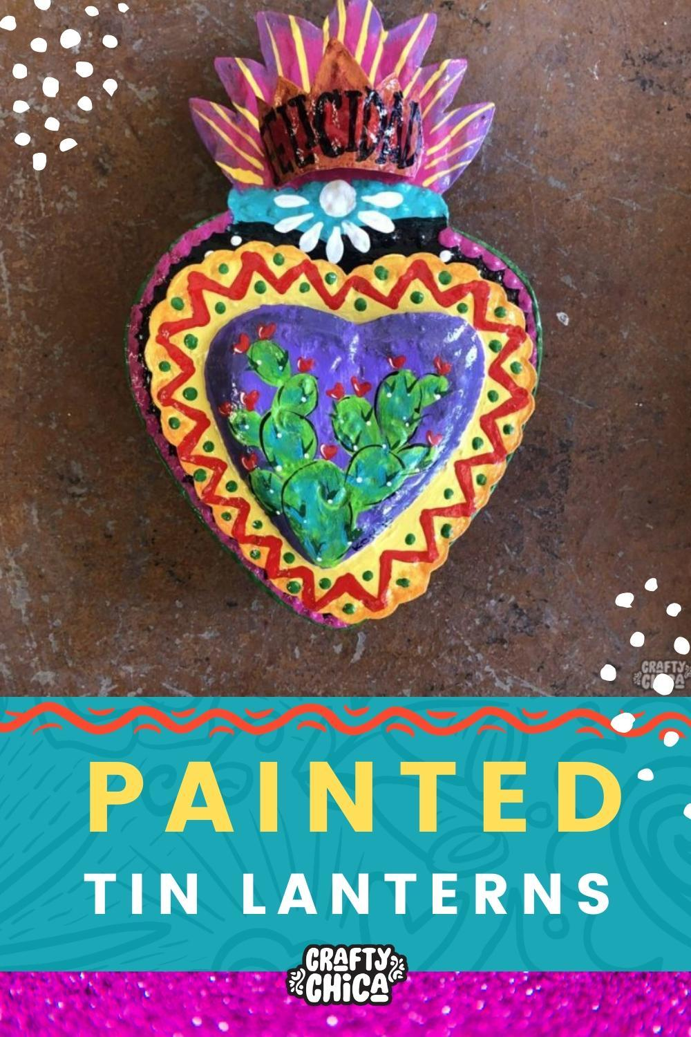 How to paint tin lanterns #craftychica #paintedtin