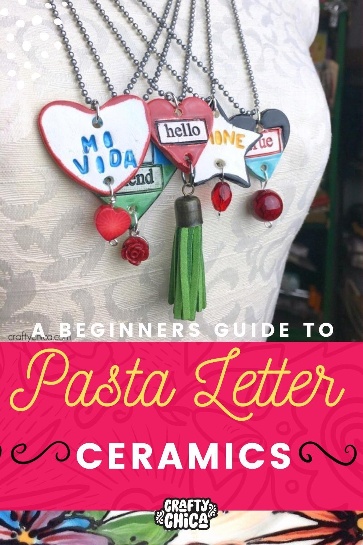 pasta letter ceramics