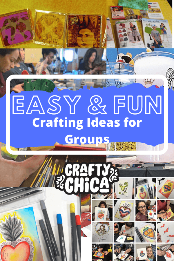 Easy and fun group crafts! #craftychica #groupcraftideas