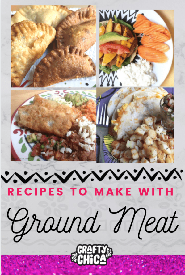 Tasty ground beef recipes to try! #craftychica #groundbeefrecipes