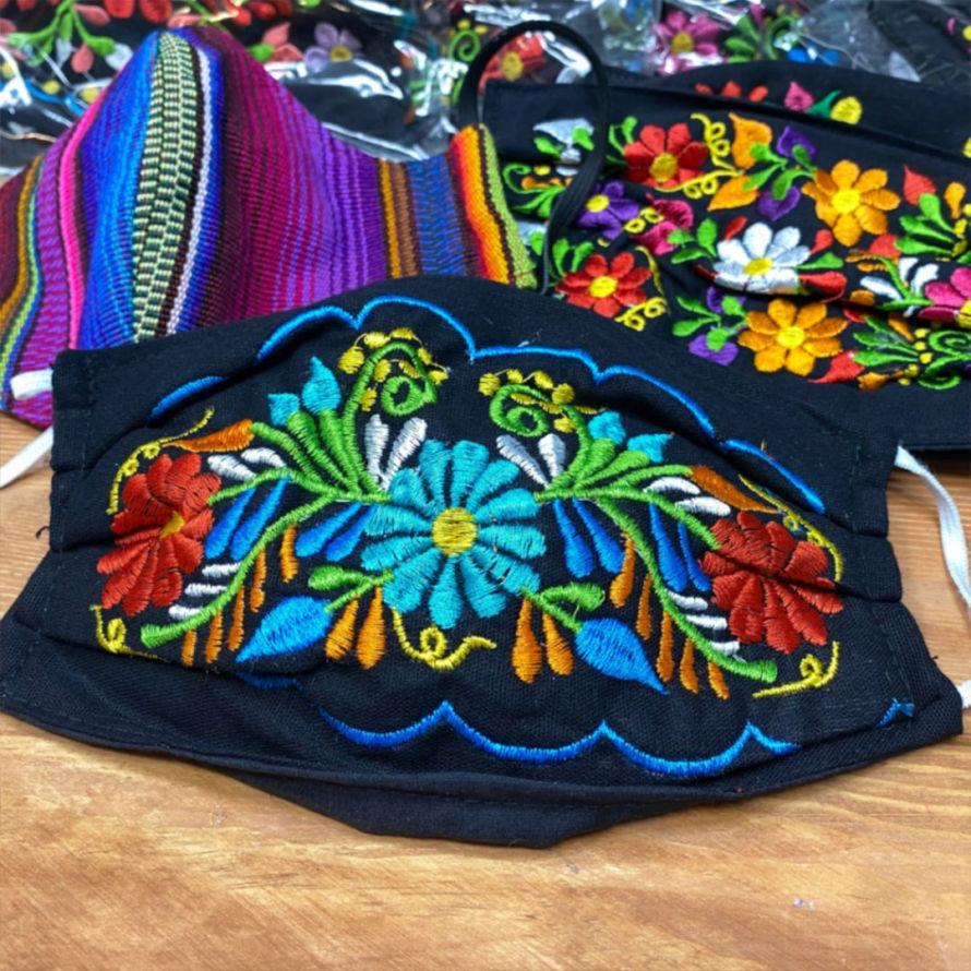 Mexican embroidered masks for sale #craftychica