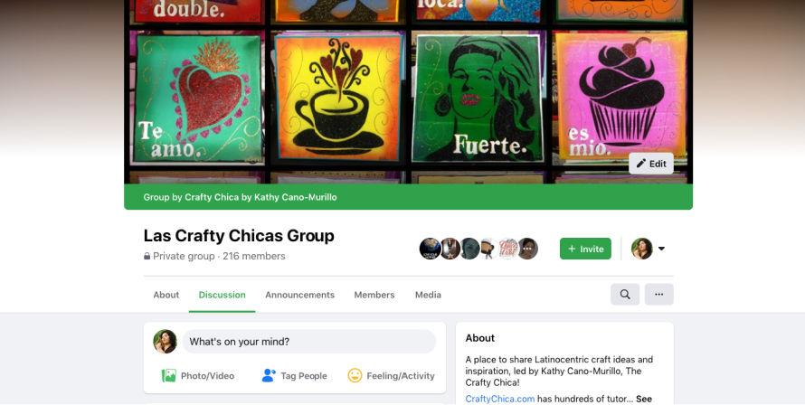 Las Crafty Chica Facebook group! #craftychica #craftgroup