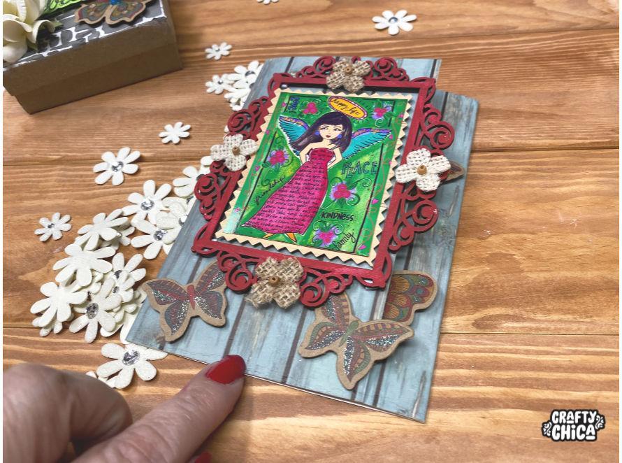 Cardmaking with Little Birdie crafts. #craftychica