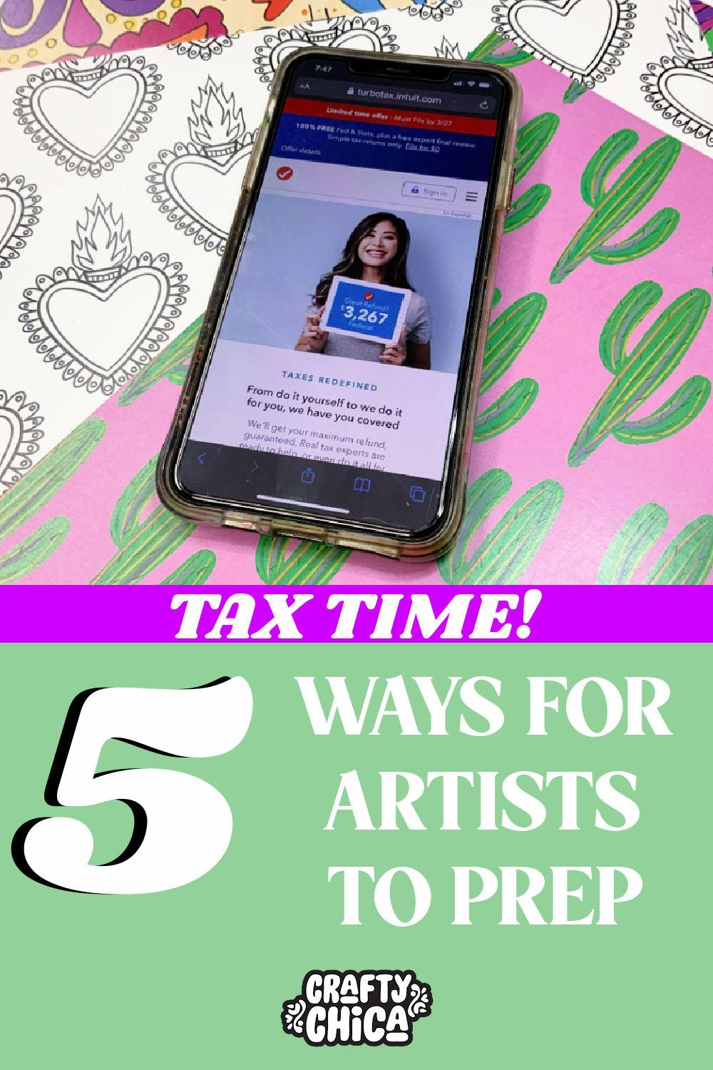 5 ways to prep for your taxes #craftychica #turbotaxgivesyoumas