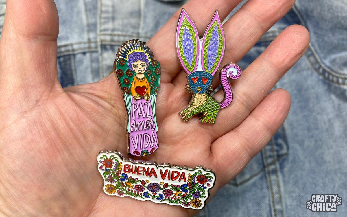 Crafty Chica enamel pins