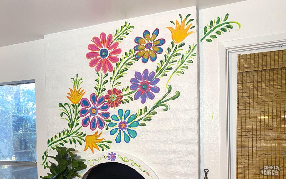 DIY Floral mural by Kathy Cano-Murillo, The Crafty Chica.