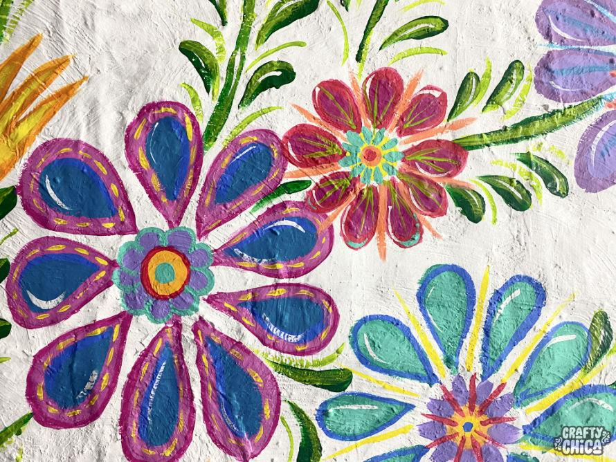 DIY Mexican-Embroidery Mural by Kathy Cano-Murillo, The Crafty Chica.