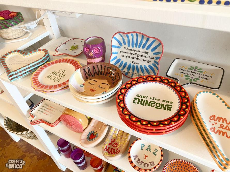 Silkscreen ring dishes by The Crafty Chica.